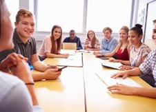 Students in a meeting
