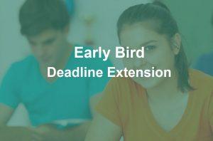 Photo of Early Bird Deadline Extension