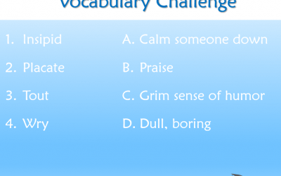 Answer to Vocabulary Challenge
