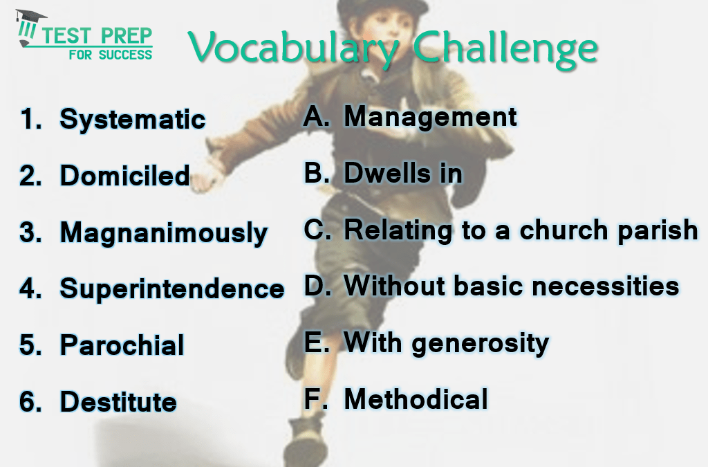 Answers to Vocabulary Challenge