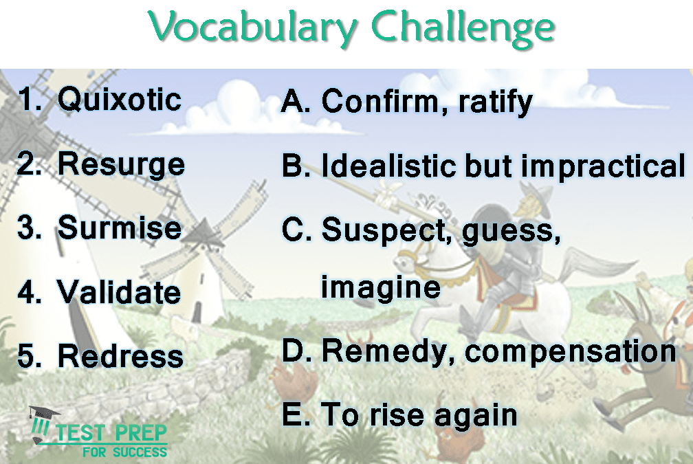 Answers for the Vocabulary Challenge