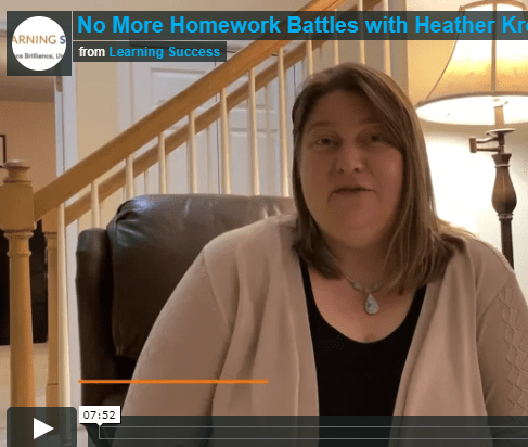 Video – No More Homework Battles